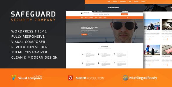 Safeguard - Security Services WordPress theme - Business Corporate