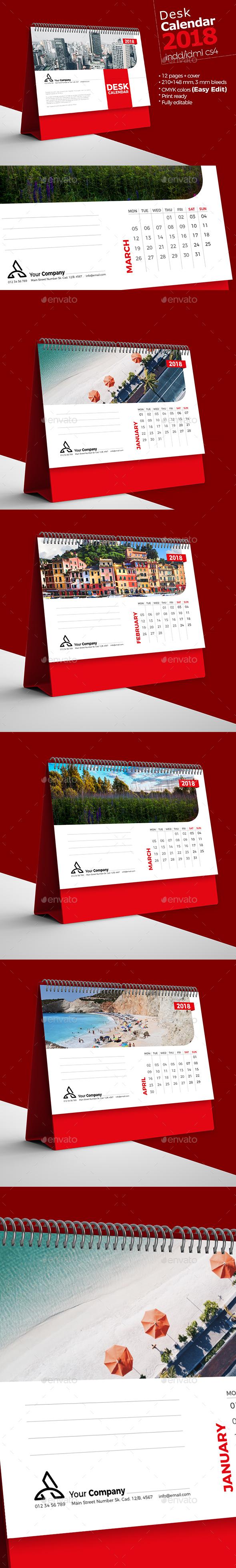 GraphicRiver Desk Calendar 2018 21047366