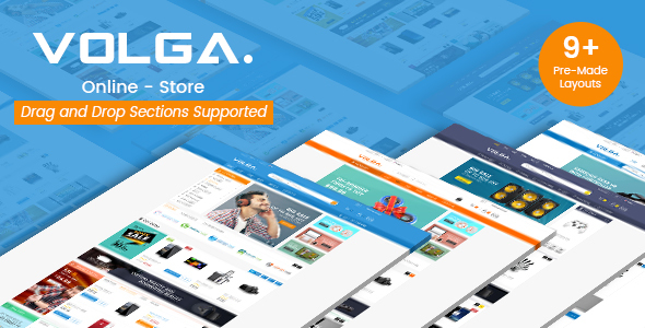 Image of Volga - MegaShop Responsive Shopify Theme - Technology, Electronics, Digital, Food, Furniture