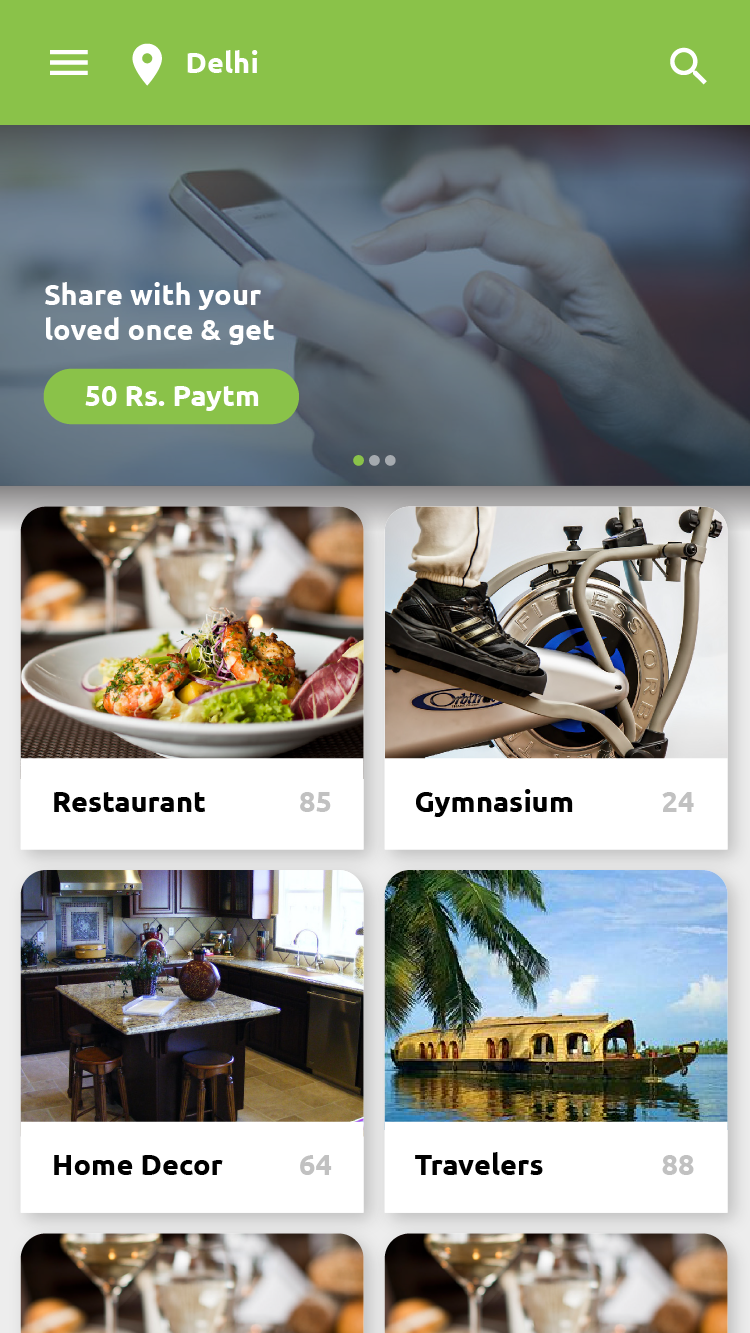 Android code to find nearby restaurants
