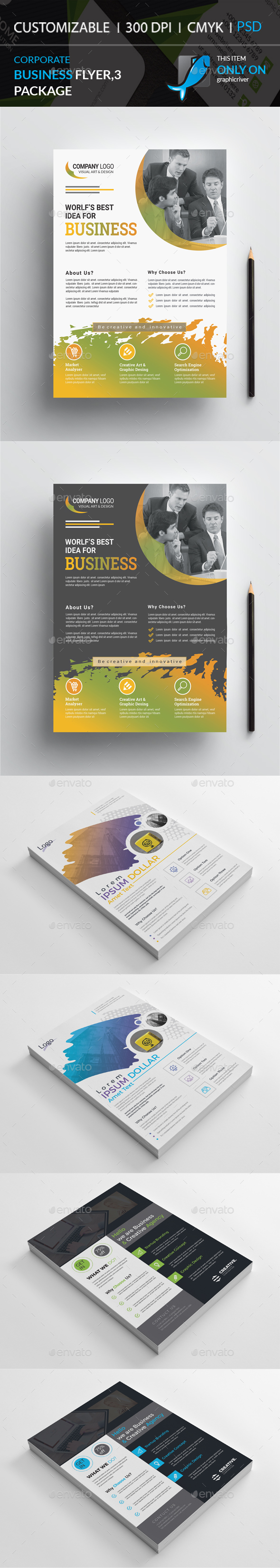 GraphicRiver Corporate Business Flyers 3 Package 21047433