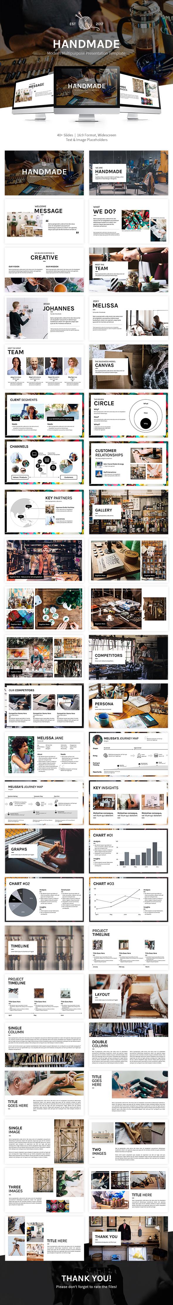 GraphicRiver Handmade Multipurpose Google Slide Template 21047472