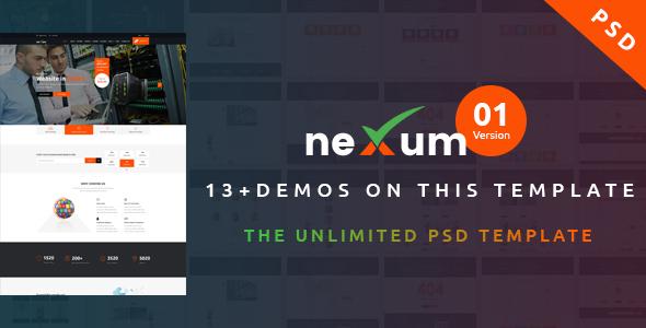 neXum Host - Hosting and Domain PSD Template