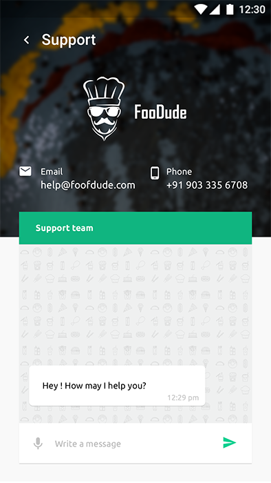 food ordering delivery android app template xml code in android