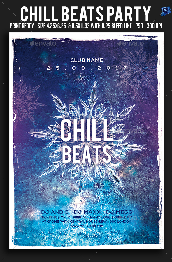 GraphicRiver Chill Beats Party Flyer 21047507