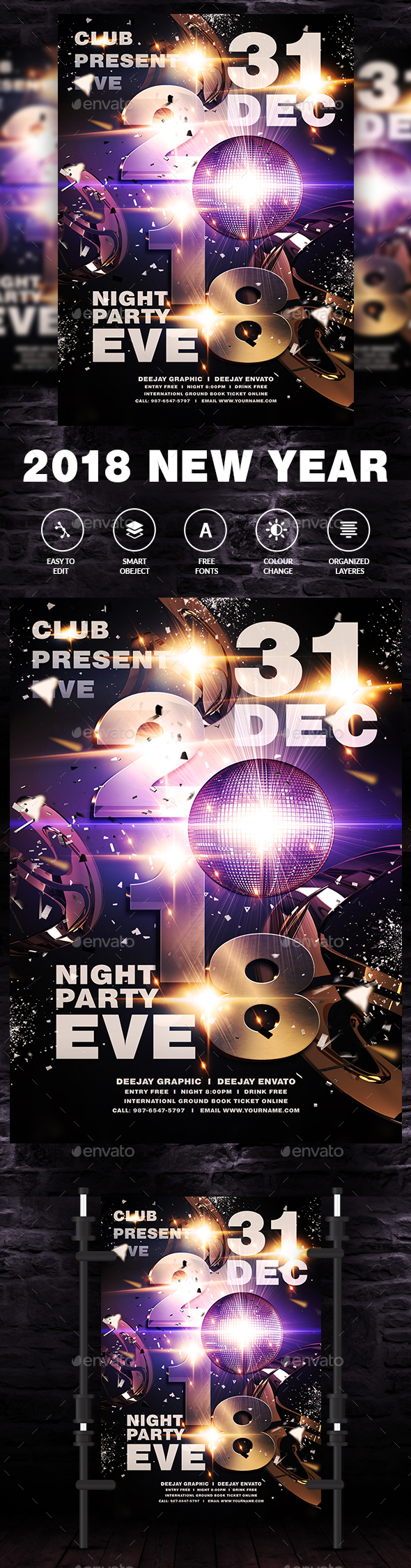 New Year Eve Party - Events Flyers