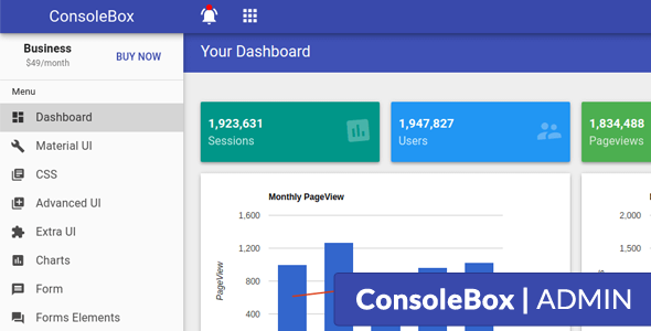 Download ConsoleBox - Angular Material Admin Template            nulled nulled version