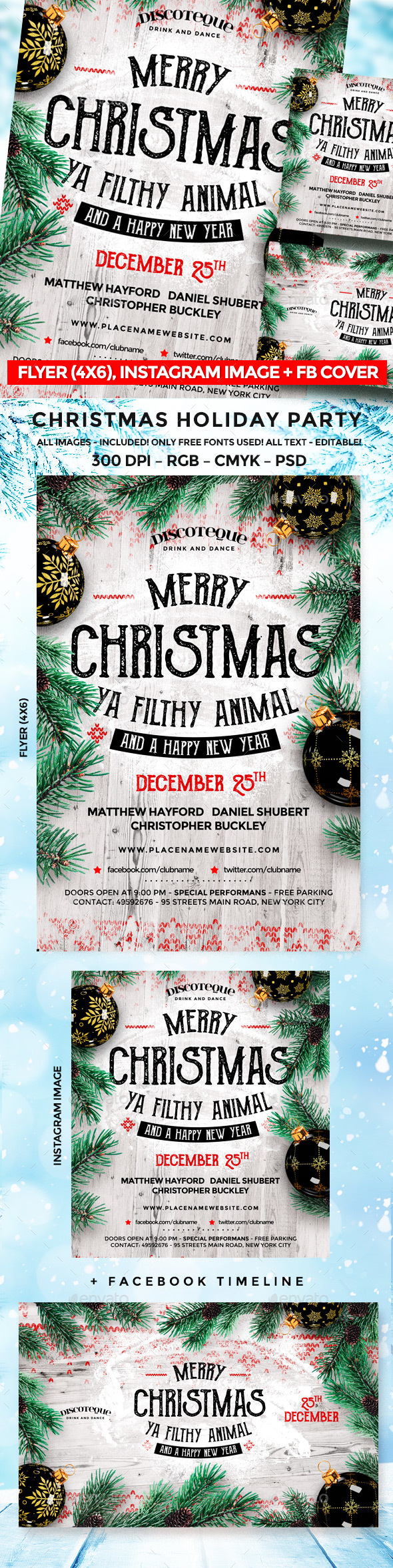 GraphicRiver Christmas Flyer 21047549