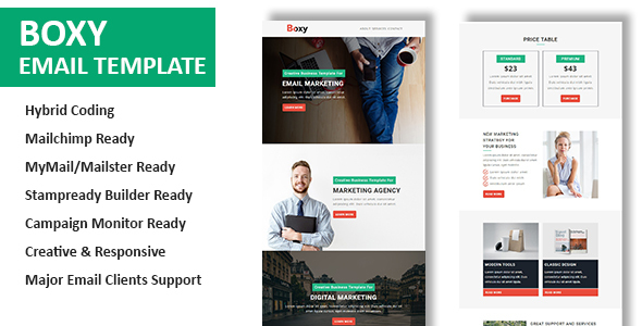 Boxy - Multipurpose Responsive Email Template With Online StampReady Builder Access