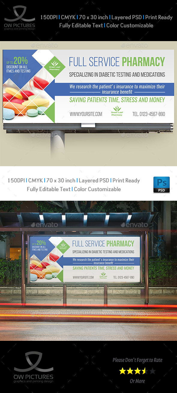 GraphicRiver Pharmacy Billboard Template Vol.3 21047867