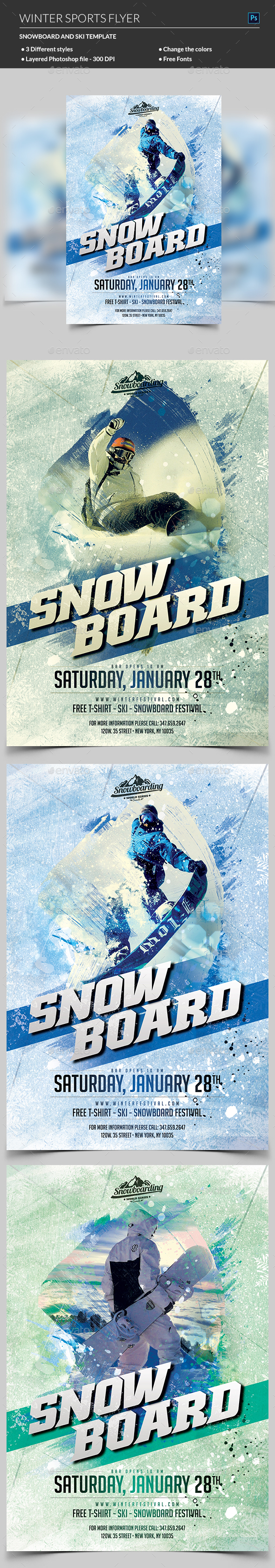 GraphicRiver Winter Sport Flyer 21047890