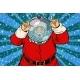 Funny Santa Claus Astronaut Makes Faces