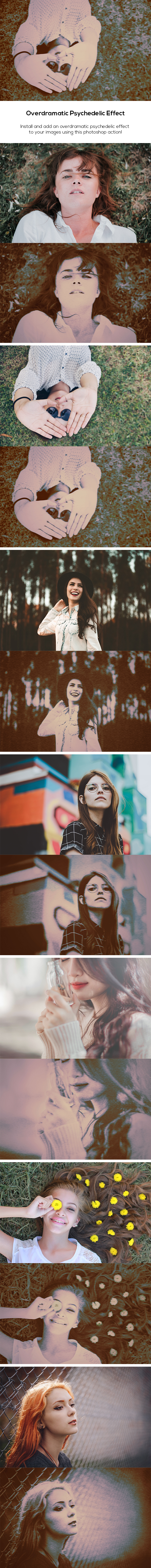 Overdramatic Psychedelic Effect - Photo Effects Actions