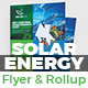 Solar Energy Flyer & Rollup Banner Bundle