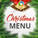 Christmas Food Menu Design Template