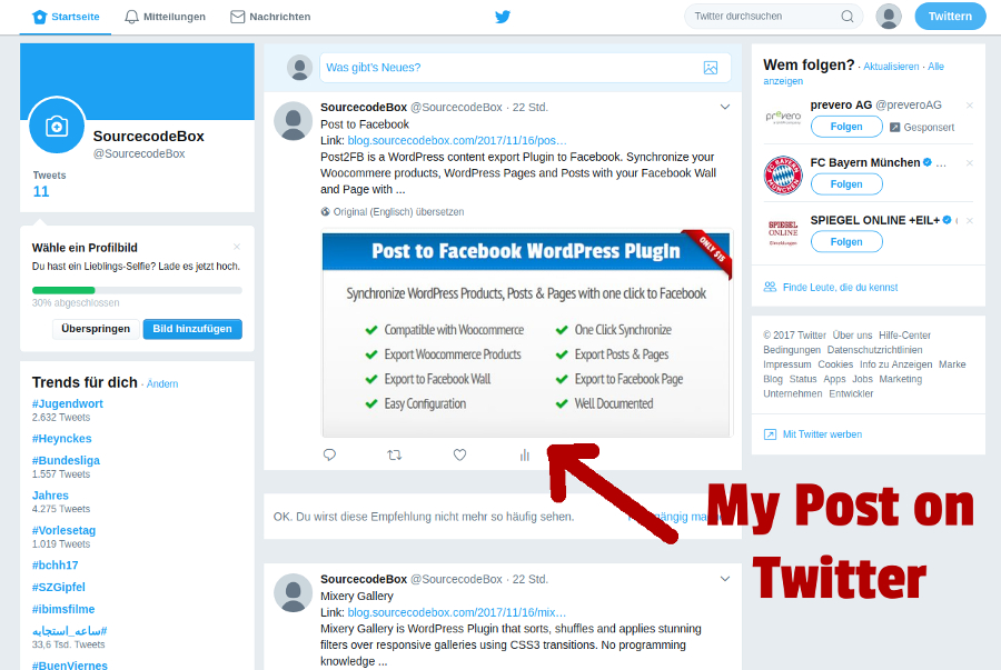 how to change twitter account on wordpress