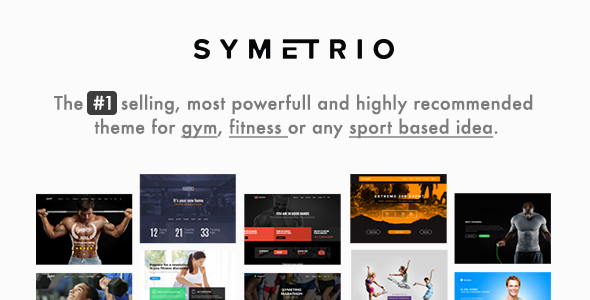 Gym & Fitness WordPress Theme - Symetrio - Health & Beauty Retail