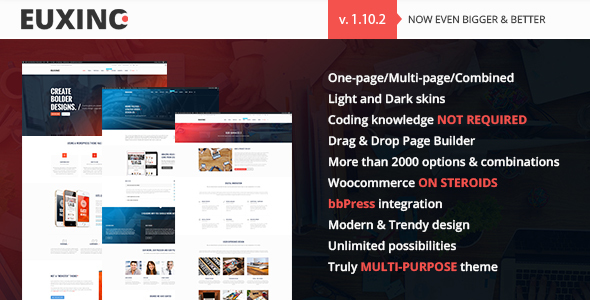 Image of Euxino - Advanced Multi-Purpose WordPress Theme