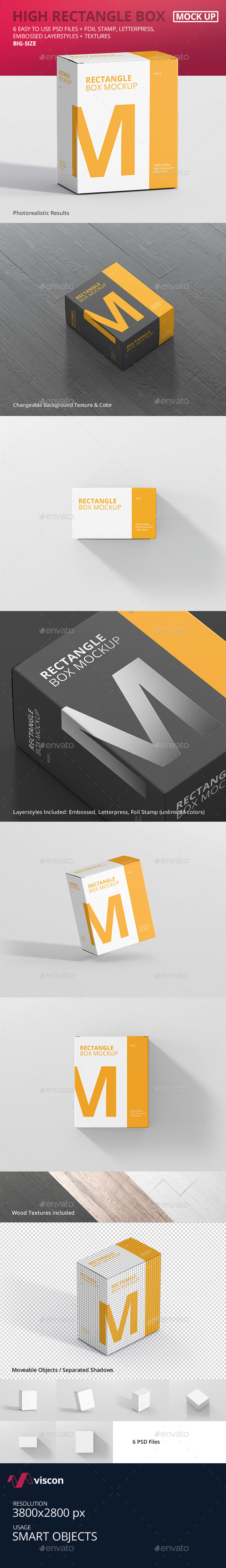 GraphicRiver Box Mockup High Rectangle Big Size 21048673
