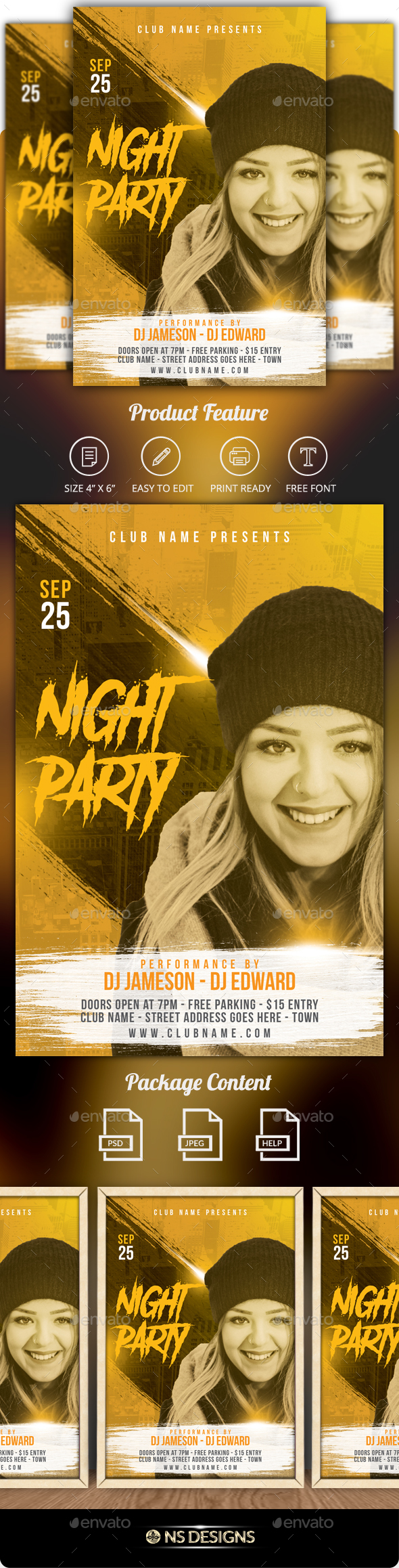 GraphicRiver Guest Dj Artist Flyer 21048952
