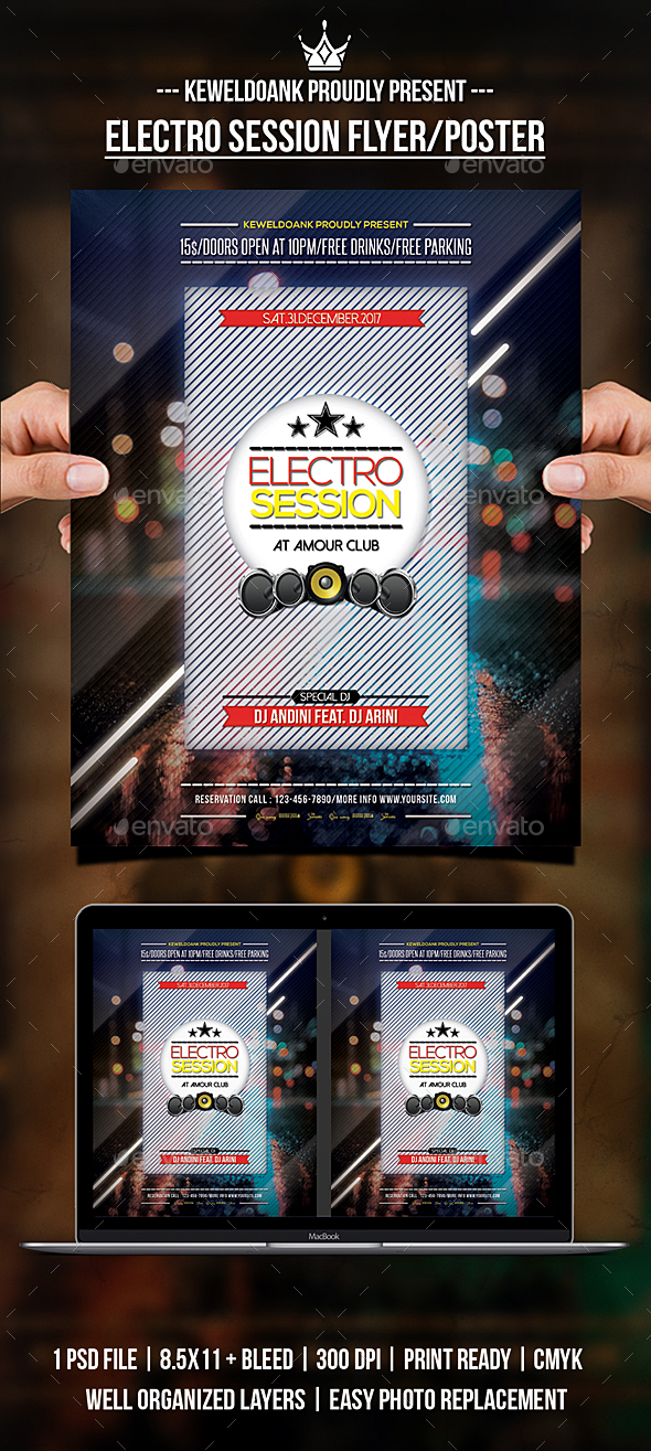 Electro Session Flyer / Poster - Clubs & Parties Events
