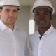Two Engineers, a Caucasian and an African American, Posing Looking To the Camera - VideoHive Item for Sale