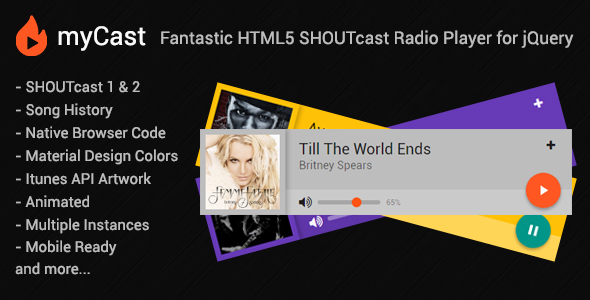 Download Source code              myCast - Fantastic HTML5 SHOUTcast Radio Player            nulled nulled version