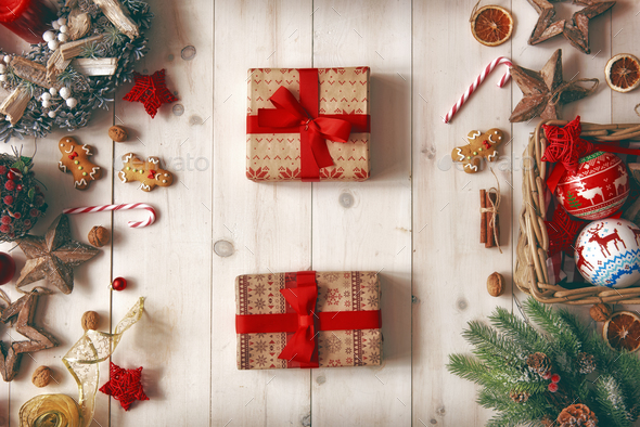 Christmas family traditions - Stock Photo - Images
