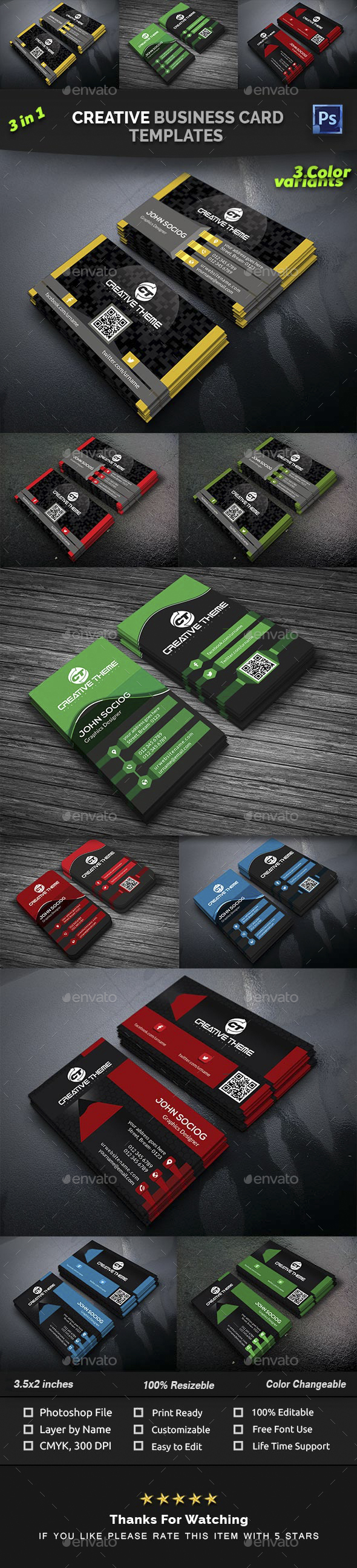 GraphicRiver Creative Business Card Templates 21049106