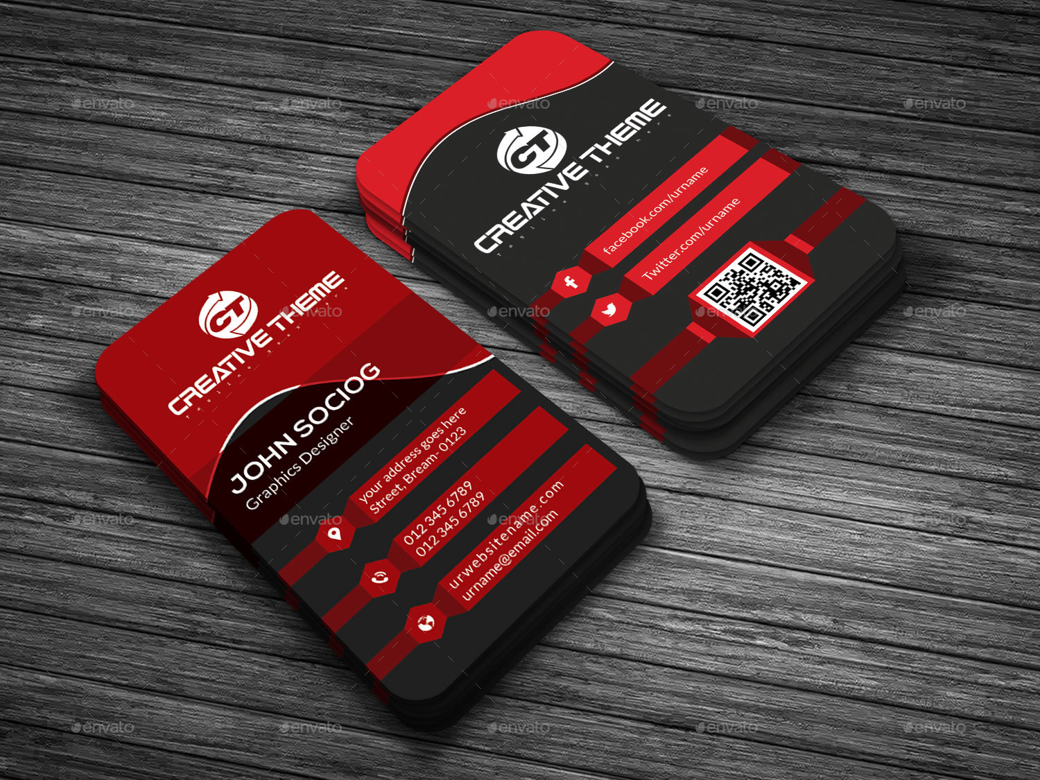 Creative Business Card Templates by Creative-Touch | GraphicRiver