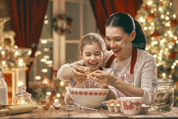 cooking Christmas cookies - Stock Photo - Images