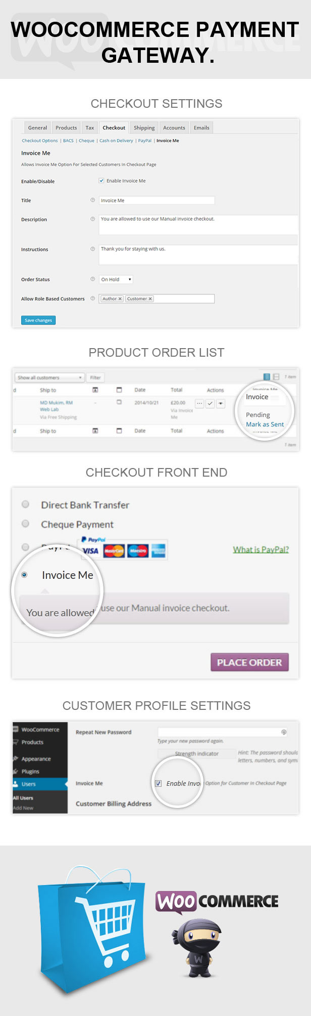 woocommere invoice me for selected customers by rmweblab codecanyon