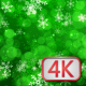 Green Christmas Background With Snowflakes - VideoHive Item for Sale