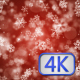Christmas Snowflakes Red Background - VideoHive Item for Sale