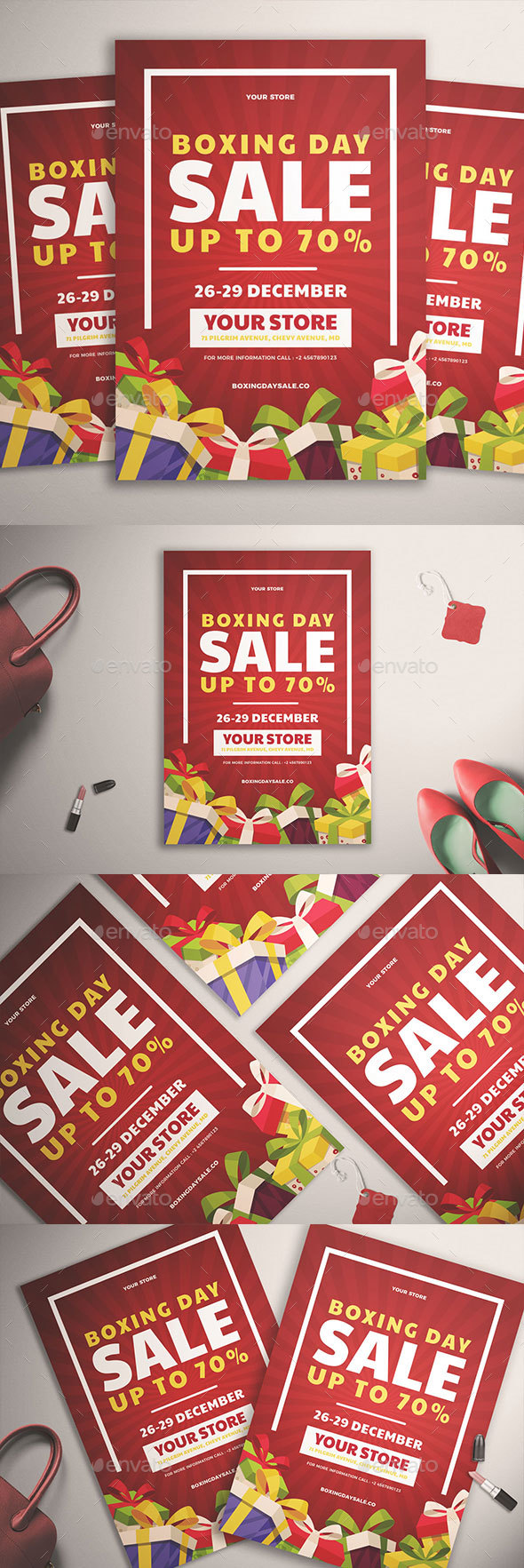 Boxing Day Sale Flyer Vol. 01 - Commerce Flyers