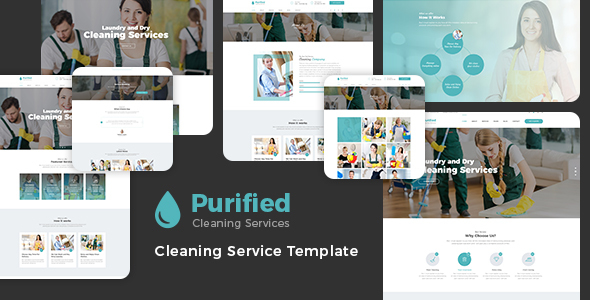 Purified - Cleaning Service HTML Template - Business Corporate