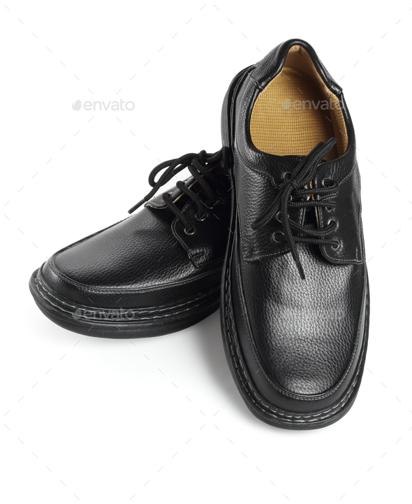 Black Leather Shoes - Stock Photo - Images