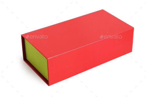 Red Oriental Gift Box - Stock Photo - Images