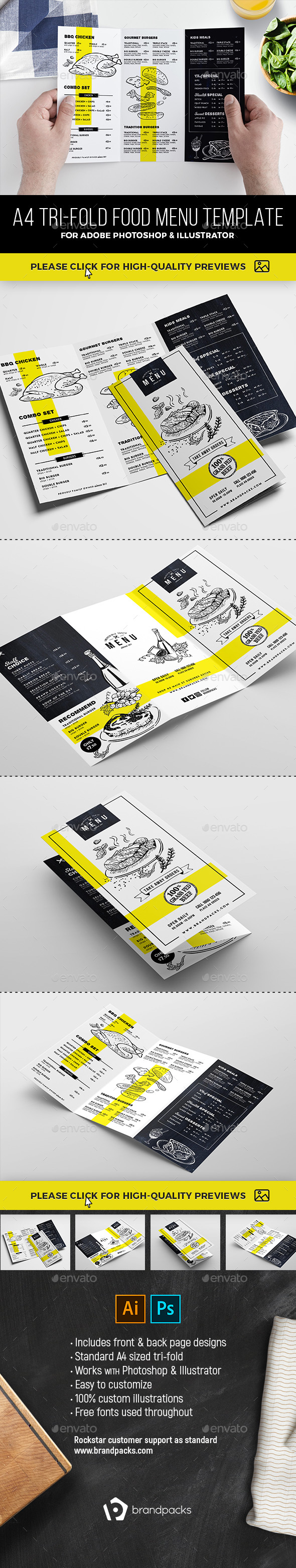 GraphicRiver Tri-Fold Menu Template 21049492
