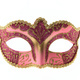 Pink Venetian carnival mask isolated on white background - PhotoDune Item for Sale