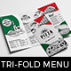 Tri-Fold Pizza Menu Template