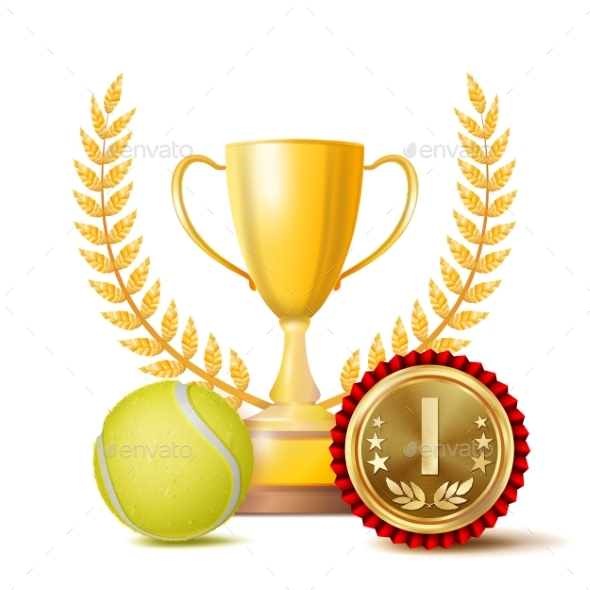 Tennis Achievement Award Vector. Sport Banner - Sports/Activity Conceptual