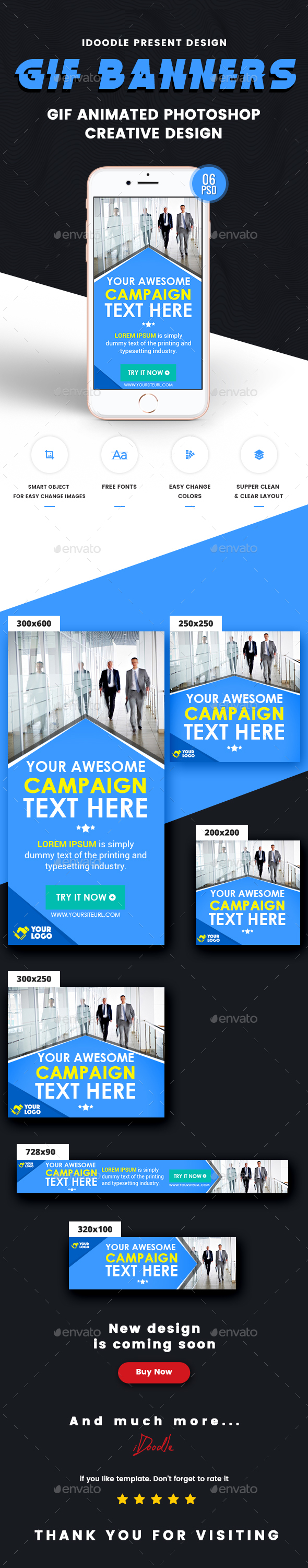 GraphicRiver Animated multipurpose Banners Ad 21049628