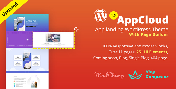Image of AppCloud | App Landing WordPress Theme