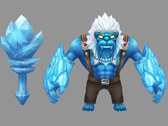 Yeti monster - 3DOcean Item for Sale