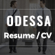 Resume | CV | Odessa Portfolio for Personal Resume, CV and vCard