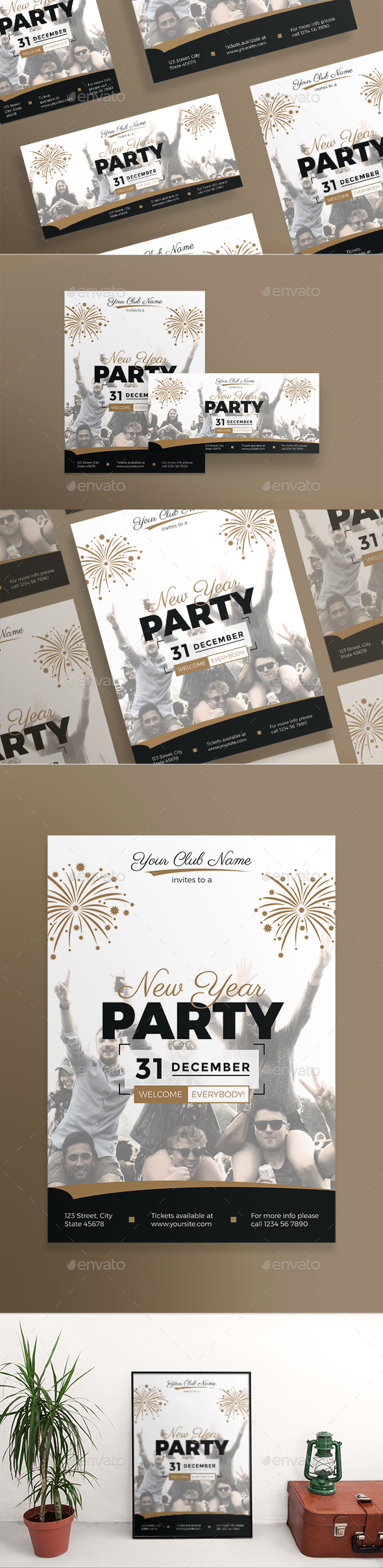 GraphicRiver New Year Party Flyers 21050038