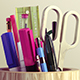 Desk Item Collection of Pens a Scissor and Ruler - 3DOcean Item for Sale
