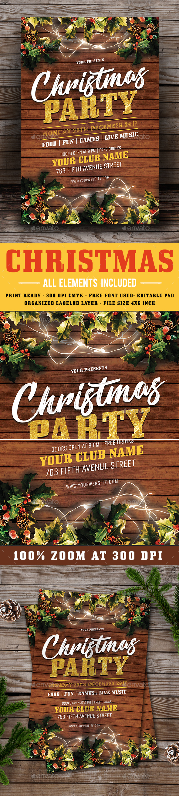 GraphicRiver Christmas Party Flyer 21050090