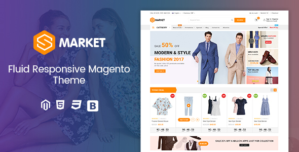 ThemeForest SM Smarket Fluid Responsive Magento 2.2 Fashion Theme 21050102